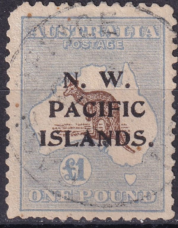 £1 Chocolate & Milky Blue Roo. 3rd Watermark. Listed Variety 52(D)j