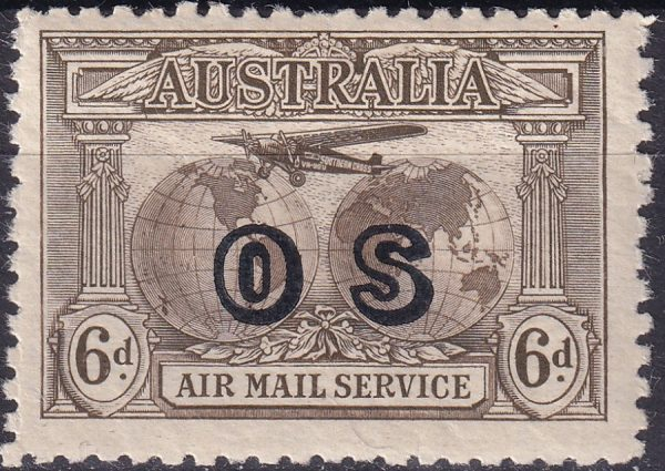 Airmail overprinted OS