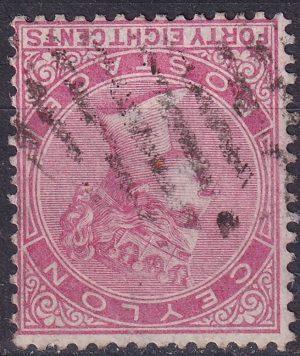 48c Queen Victoria. Watermark Inverted