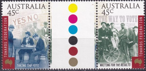 Centenary of Commonwealth of Australia Constitution Act. Gutter Pair
