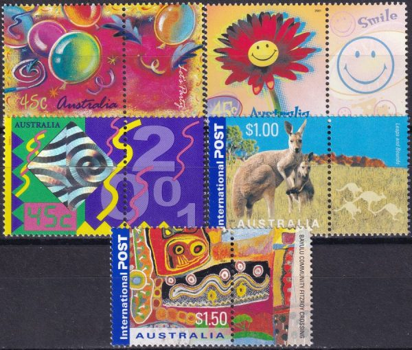 """Colour my Day"" Greetings Stamps"