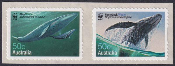 Endangered Species. Whales - Self Adhesives