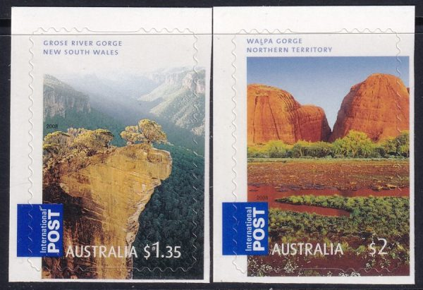 """Georgeous Australia"". International Stamps - Self Adhesives"