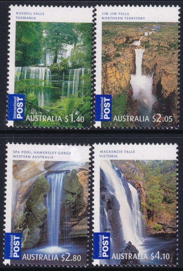 Waterfalls of Australia. International Stamps