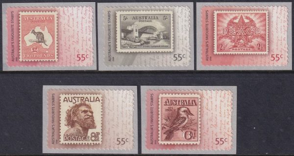 Bicentenary Postal Services in Australia - Self Adhesives
