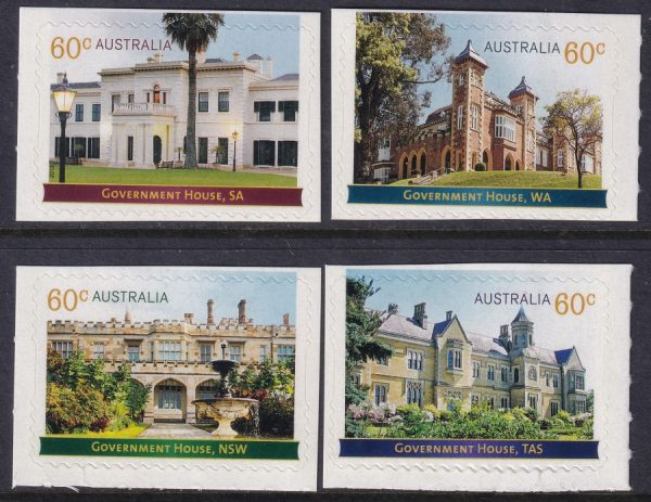 Historic Architecture. Government Houses - Self Adhesives