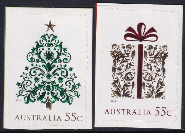 Christmas (2nd issue) - Self Adehesives with gold foil