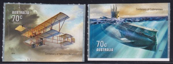 Centenary of Military Aviation and Submarines - Self Adhesives