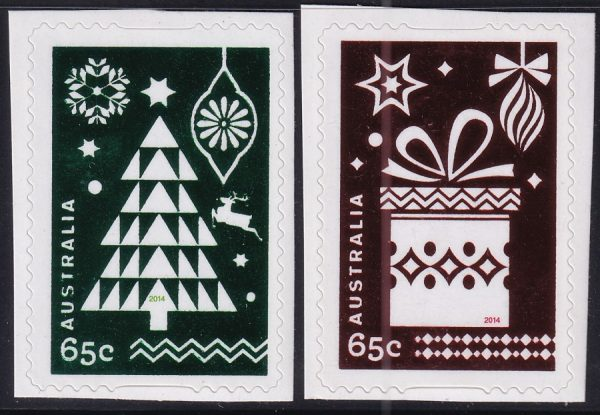 Christmas (2nd issue) - Self Adhesives with foil backgrounds