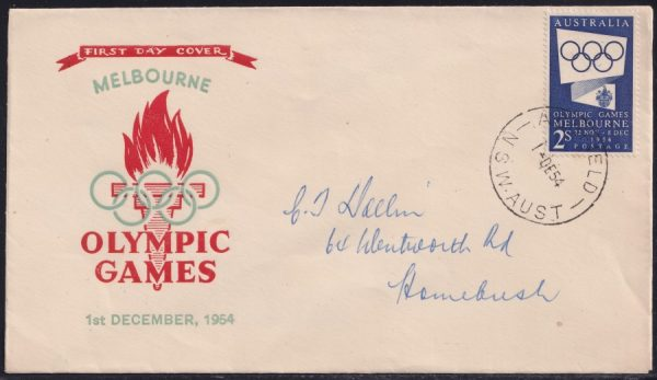2/- Blue Olympic Games Propoganda