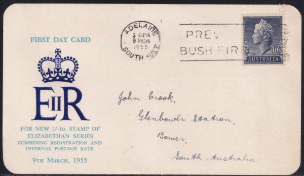 1'0½d Queen Elizabeth II First Day Card