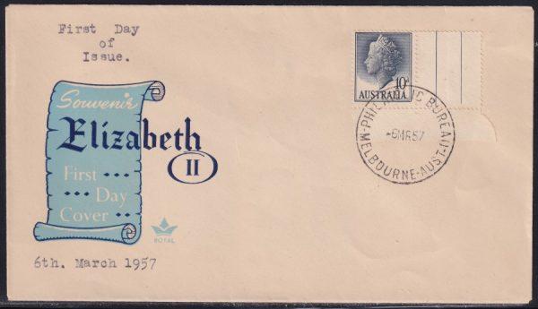10d deep-grey blue Queen Elizabeth II