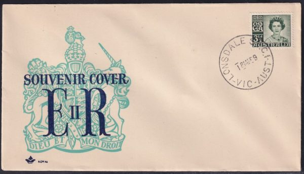 3½d deep green Queen Elizabeth II
