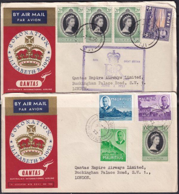 1953 (2nd June) Australia to England carried on the Qantas Coronation Flight