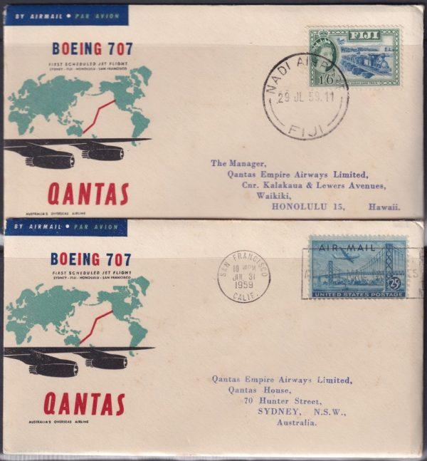 Qantas Boeing 707 First Scheduled Jet Flight