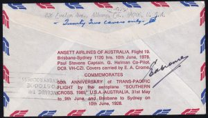 50th Anniversary of Charles Kingsford Smith Trans-Pacific Flight