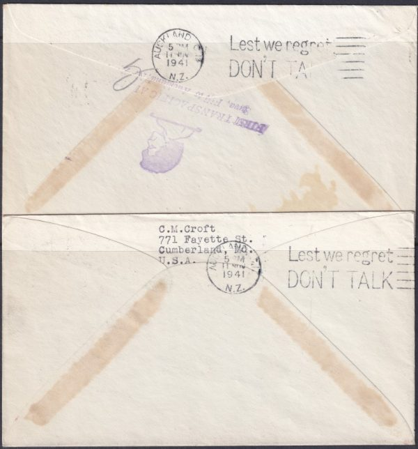 First Trans Pacific Airmail